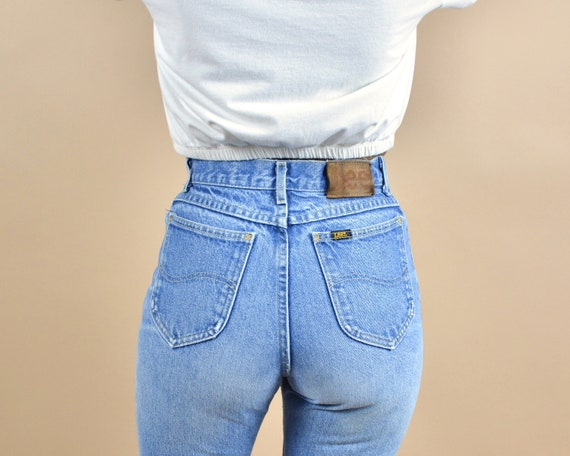 Lee Size 24 High Rise Vintage Denim Petite Jeans