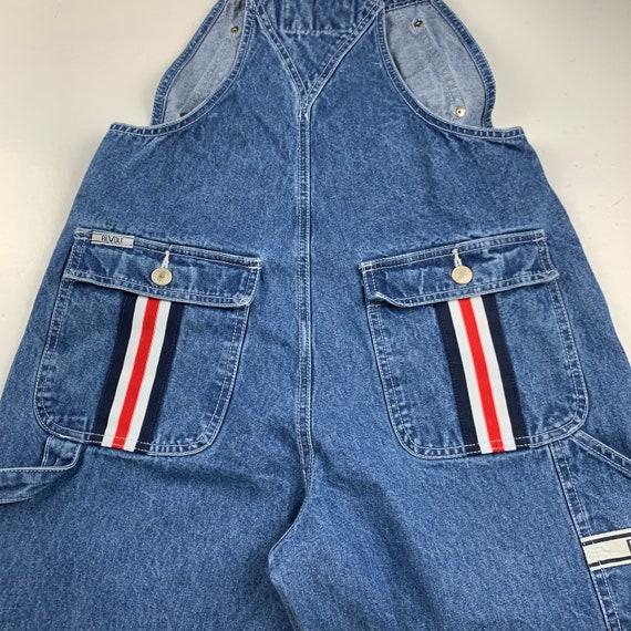 Revolt Size M Denim Striped Vintage 90s Dungaree … - image 6