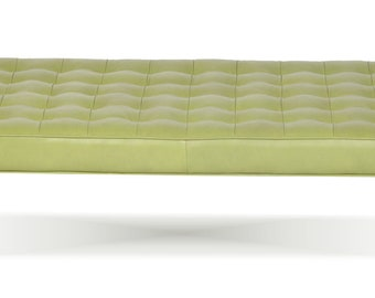 Retro - Modern Tufted Genuine Leather Daybed, Bench, Lounge Chaise