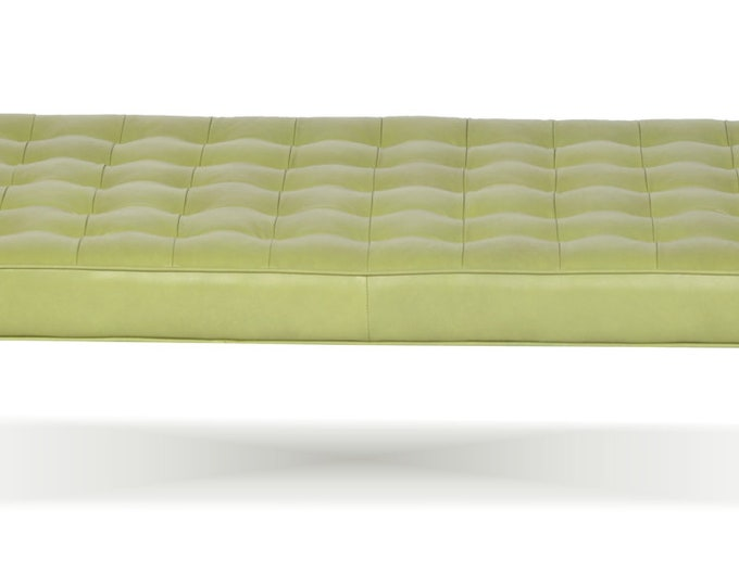 Featured listing image: Retro - Modern Tufted Genuine Leather Daybed, Bench, Lounge Chaise