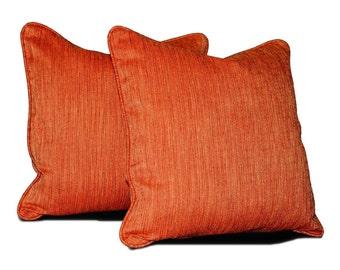 "Decorative Fabric Accent Pillows, Throw Pillow - 18"", 20"" or 22"" - SET OF 2"