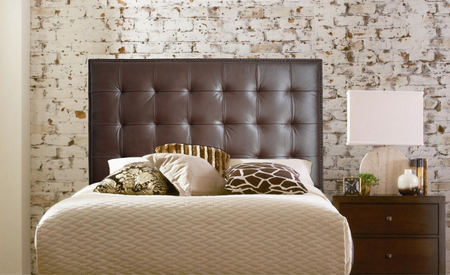 Wall Mounted Queen Size Extra Tall Headboard Upholstered