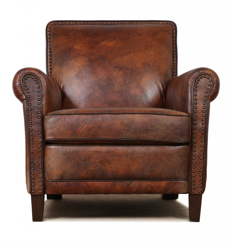 High End, Genuine Leather Accent Chair   Club Chair   Cigar Chair