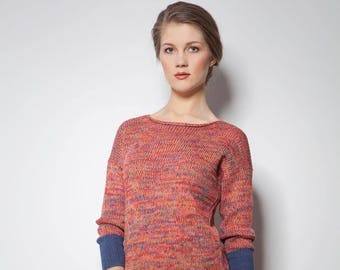 tunic Jumper Sweater, Pullover, Knitted Sweater, Woman Pullover, Gift for her, Women's Sweaters, sweater knit, sweater woman