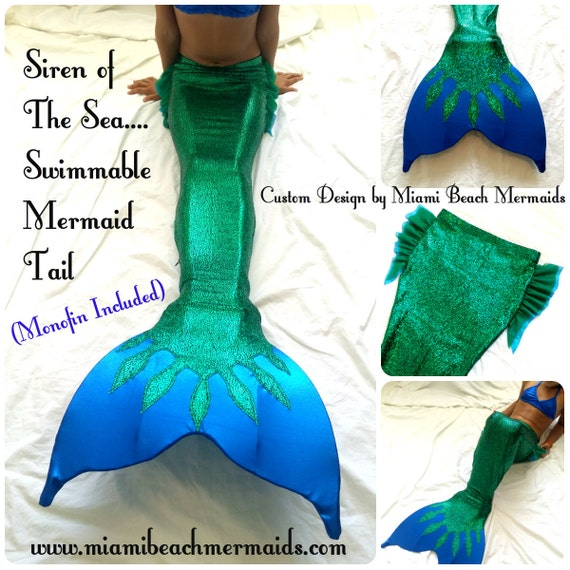 Siren Of The Sea Swimmable Mermaid Tail By M B M Etsy