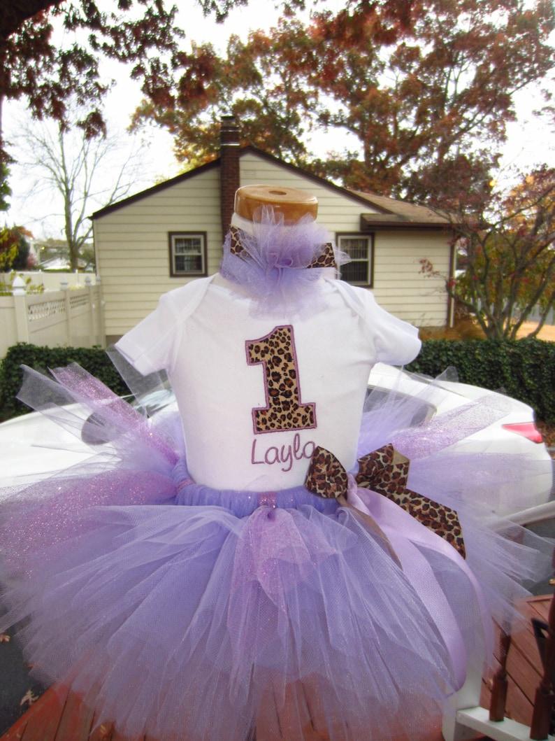 Lavender leopard print bodysuit tee