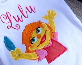 Julia personalized tee Julia shirt Sesame street Julia