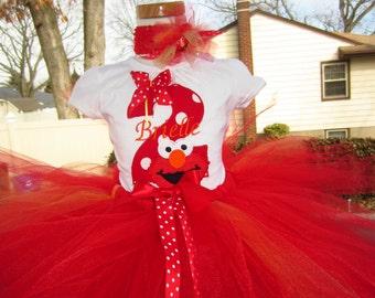 Elmo personalized shirt Elmo birthday shirt Elmo shirt Elmo party girls Elmo shirt Elmo name shirt first birthday onesie elmo 1st birthday
