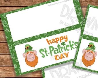 """Happy St. Patricks Tag druckbare Tasche Topper Set, (3""""/ 4""""/ 5""""breit) enthält PYO Version - PR63-LEPSTPAT"""