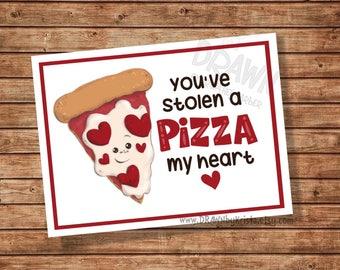 Sie haben eine Pizza mein Herz Valentine, Lehrer, Geschenkanhänger, Klassenzimmer Geschenkanhänger, Geburtstag, Gunst, anpassbare PR10 PIZZA gestohlen