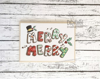 Christmas Holiday Greeting Cards: Merry Merry Cookies (CARD-MM12)