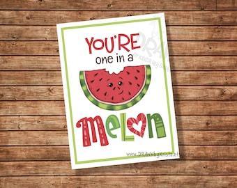 Sie sind in eine Melone, Valentine, Lehrer, Geschenkanhänger, Klassenzimmer Geschenkanhänger, Geburtstag, Gunst, anpassbare PR15 Melone