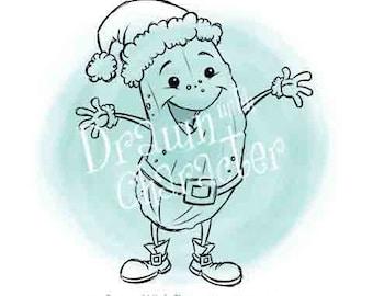 Christmas Pickle Digital Clip Art/ KopyKake Image