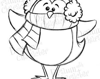 Penguin Digital Clip Art/ KopyKake Image