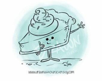 Slice of Pie, Digital Stamp, KopyKake, Image- F25-PIE2