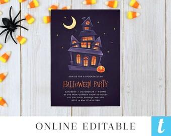 halloween invitation etsy