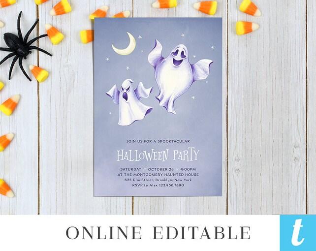 Printable Halloween Invitation Template For Kids Halloween