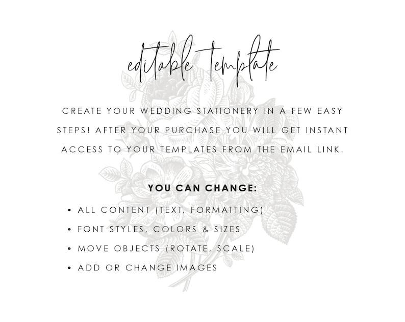 Geometric Gold Wedding Invitation Template Printable Modern Watercolor Greenery Invites Digital Instant Download Editable Caroline Templett