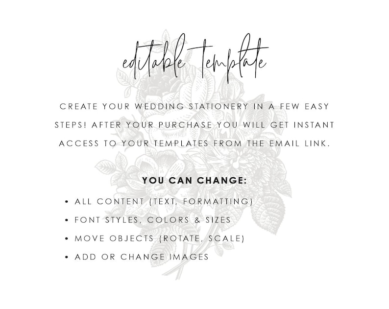Bilingual Blush Wedding Invitation Template Printable Navy Peony Rose Pink Floral DIY Editable Instant Download Invites Brianna B Templett