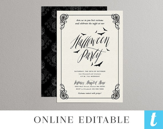 Printable Halloween Invitation Template