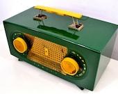 Jade Green 1955 Zenith quot Broadway quot Model R511F AM Tube Radio - Give My Regards