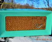 ROBINS Egg Blue Retro Jetsons 1958 Dumont Tube AM Radio Totally Restored