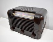 Magnificent Brown Bakelite 1945 RCA Victor Model 56X Vacuum Tube AM Radio Boom Box