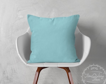 solid teal pillow cover turquoise pillow cotton cushion cover teal decorative pillow teal throw pillow cover accent pillow ANY SIZES