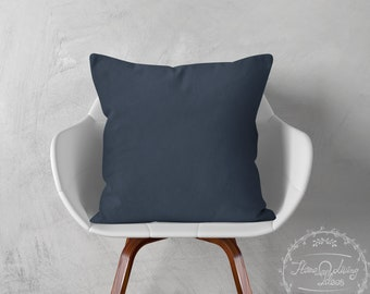navy throw pillow cover navy blue pillow cover decorative pillow case navy linen cushion cover accent pillow farmhouse pillow couch pillow