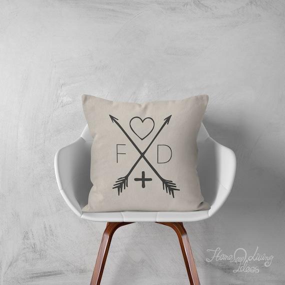 Pillow Monogrammed Pillow Monogram Pillow Decorative Throw Etsy Inspiration Monogrammed Decorative Throw Pillows