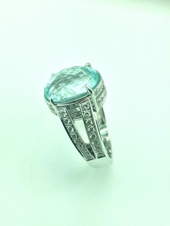 Certified 6 Carat Paraiba Tourmaline Ring And Diamonds Etsy