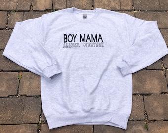 MOM Hoodie Sweatshirts Mom of Boys Mom to Be Boy Bom Gift