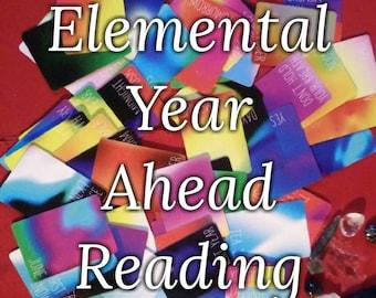 Elemental Year Ahead Card Reading