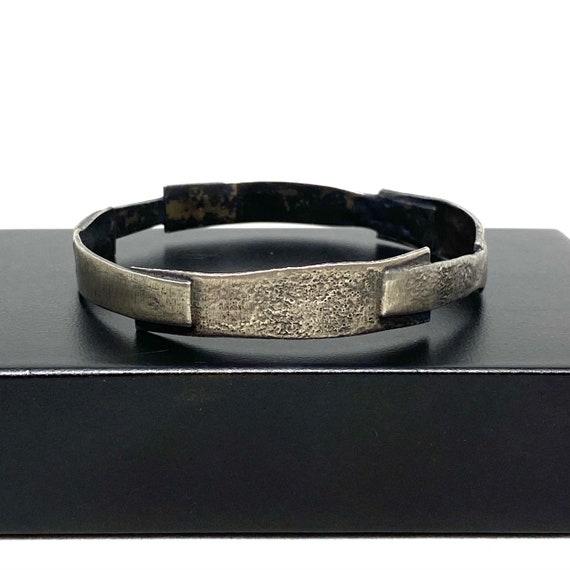 Brutalist Geometric Bracelet - Layered Rectangles