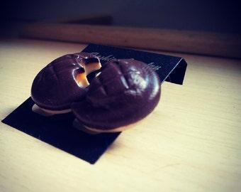 Mini Jaffa Cake Stud earrings