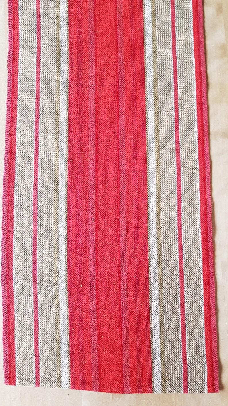 Beautiful handwoven tablerunner  tablecloth in linen from Sweden