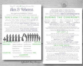 silhouette funny wedding program wedding program best seller fan