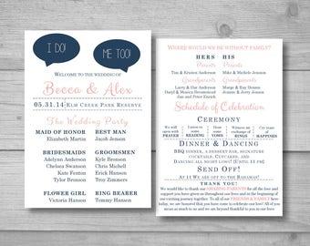 Relationship Timeline Wedding Program Funny Wedding Program Etsy