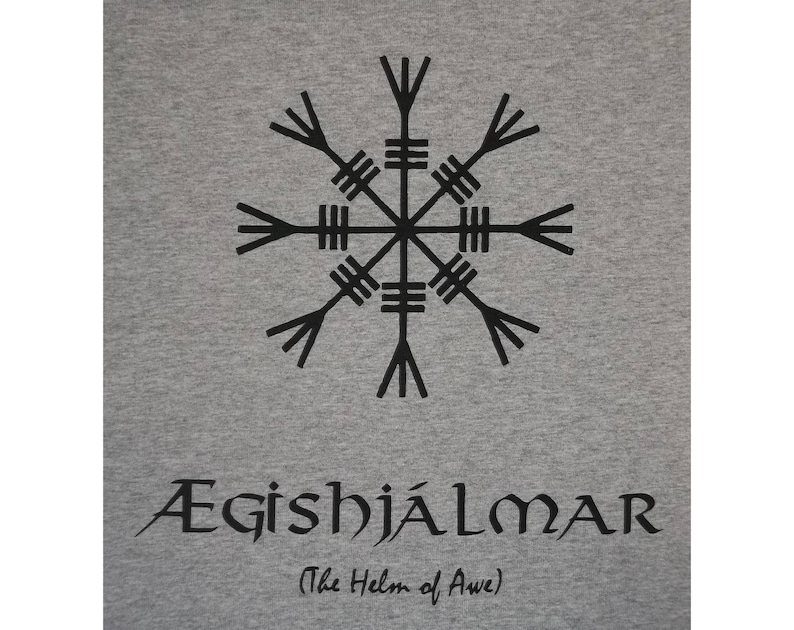 b6e6437b8 Aegishjalmar Aegishjalmur Helm of Awe Norse Viking Rune | Etsy
