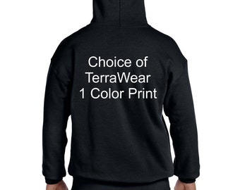 TerraWear Pull Over Hoodie Choice of Colors and Design