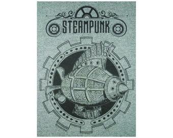 Steampunk Goth Starship T-Shirt BL
