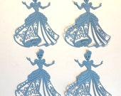 Set Of 4 Cinderella Die Cuts Paper Cuts Embellishments Scrapbooking Card Making Disney Die Cuts Cinderella Die Cuts Cinderella