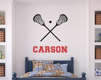 Lacrosse wall art | Etsy on lacrosse stick holder decor, lacrosse personalized wall decal, lacrosse boy bedroom,