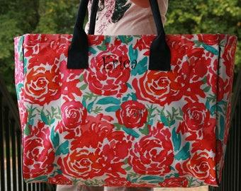 Ladies Personalize Foral Large Tote Bag