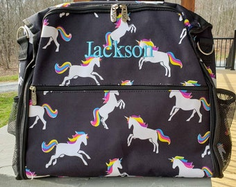 75d60b7e65fa Personalized Diaper Bag Backpack Unicorn Baby Shower Gift