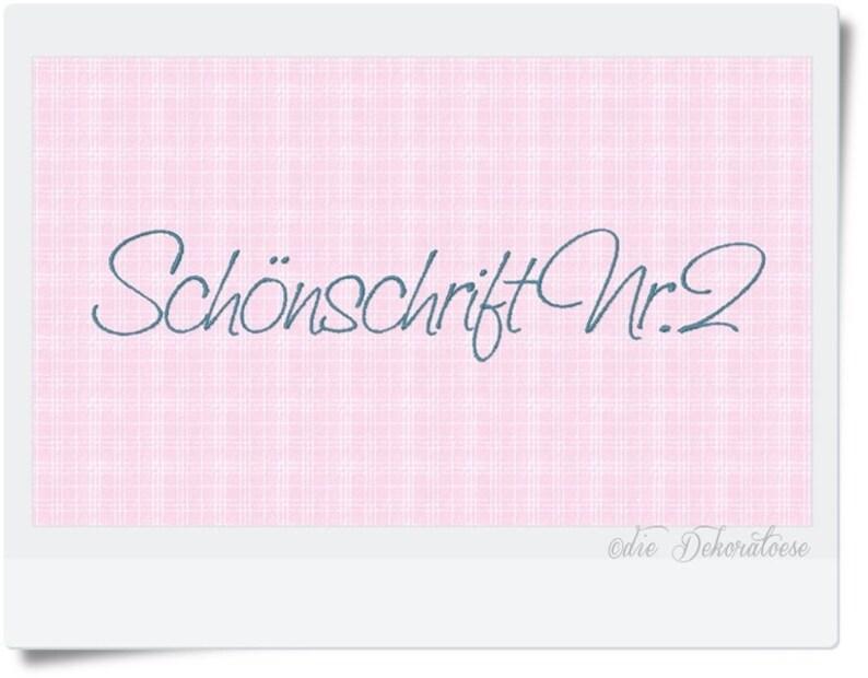 Schönschrift Nr.2  Buchstaben Stickdatei image 0