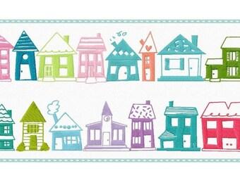 File di piccola città ricamo 75 case telaio 10 x 10