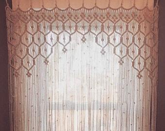 Macrame Curtain- Made to Order Macrame- 3mm Macrame- Macrame Rope- Macrame Wedding - Macrame Wall Hanging