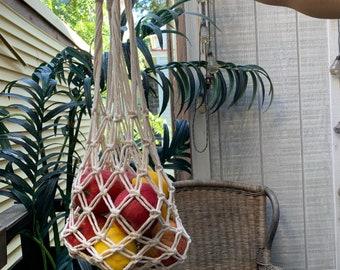 Macrame Market/ Produce Bags - Reusable Bags - Macrame Purse - Macrame Wall Hanging - Macrame Gift - Macrame Christmas Gift - Macrame Decor