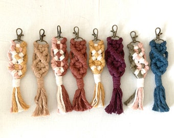 Customize Your Own Color Block Macrame Keychain
